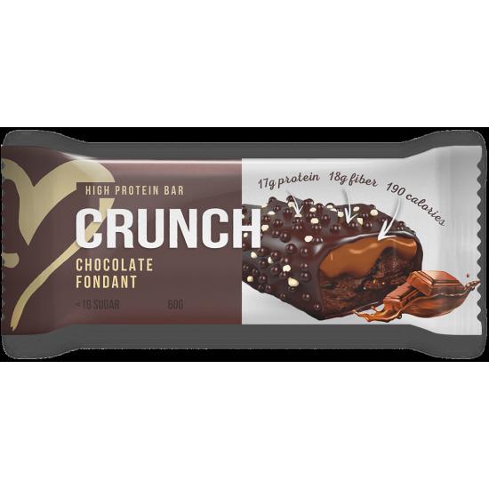 BOOTYBAR CRUNCH протеиновый батончик 60г, Шоколадный фондан
