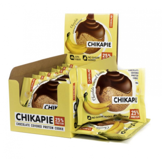 CHIKALAB Печенье глазированное с начинкой 60 гр, Банан в шоколаде