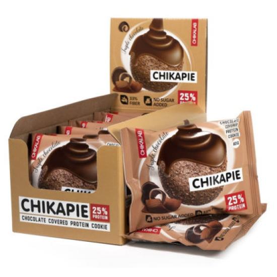 CHIKALAB Печенье глазированное с начинкой 60 гр, Тройной шоколад