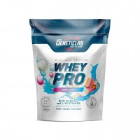 GENETICLAB Whey Pro 1 кг, Бабл-гам (голубой)
