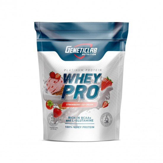 GENETICLAB Whey Pro 1 кг, Клубника со сливками