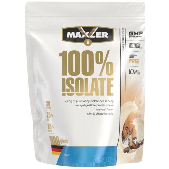 MAXLER 100% ISOLATE 900 г, ледяной кофе