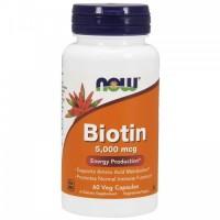 NOW Biotin 5000mcg 60 капс
