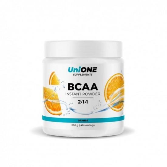 UniONE BCAA Instant Powder 200 гр, Апельсин