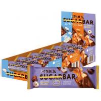 Батончик FitnesSHOCK 50г, Шоколад-фундук с карамелью