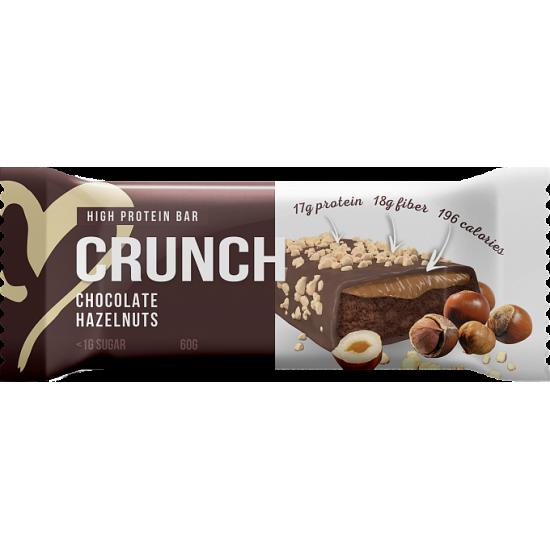 BOOTYBAR CRUNCH протеиновый батончик 60г, Фундук в шоколаде