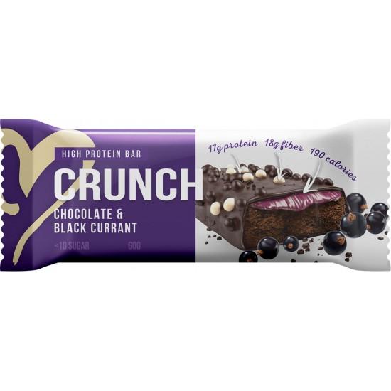 BOOTYBAR CRUNCH протеиновый батончик 60г, Шоколад-черная смородина