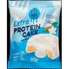 FIT KIT Extra PROTEIN CAKE 70гр, Кокос-ваниль