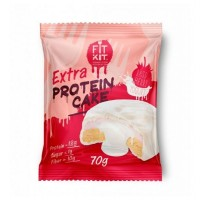 FIT KIT Extra PROTEIN CAKE 70гр, Малина-Йогурт