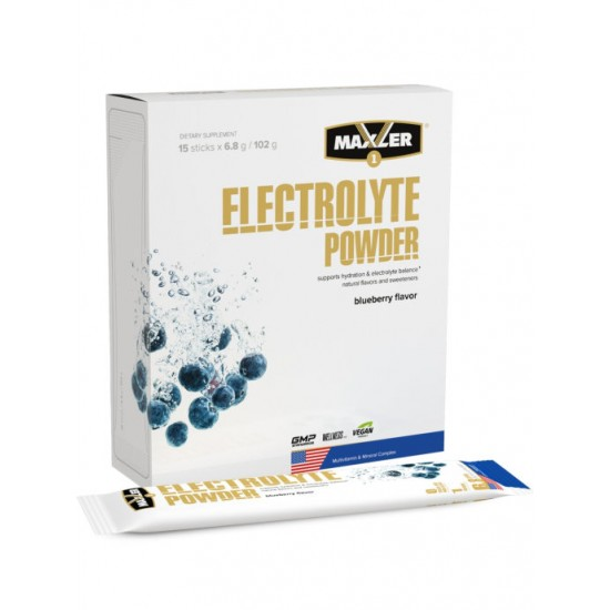 MAXLER Electrolyte Powder 15х6,8гр , Черника