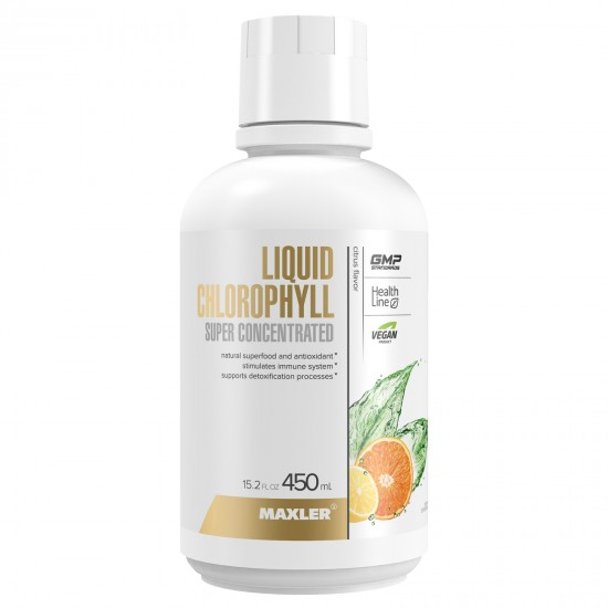 MAXLER Liquid CHLOROPHYLL 450мл, Цитрус
