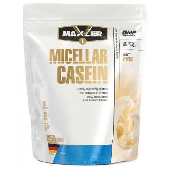 MAXLER Micellar casein 450г, Банановый молочный коктейль