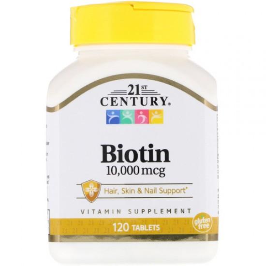 21ST CENTURY Biotin 10,000 mcg 120 табл