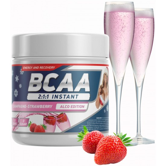 GENETICLAB BCAA Powder 250 г, Клубника