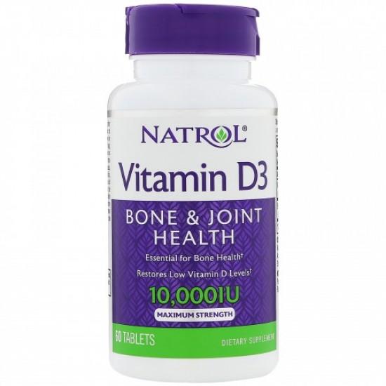 NATROL Vitamin D3 10,000IU 60таб
