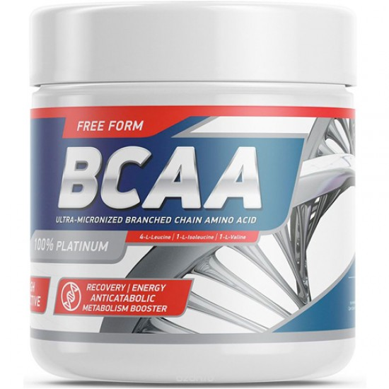 GENETICLAB BCAA Powder 200 г, Без вкуса