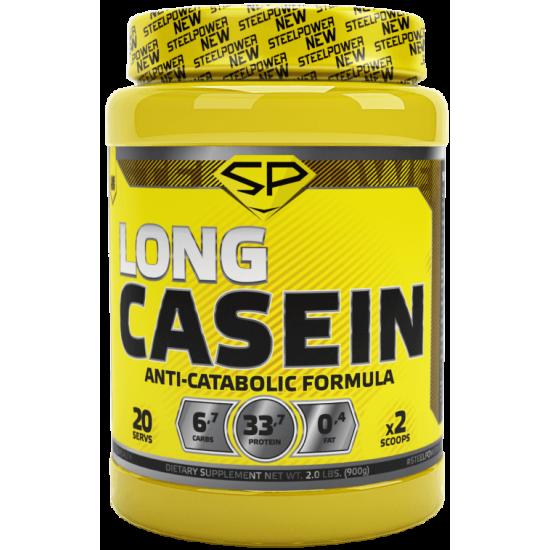 STEEL POWER Long Casein Protein 900г, Клубника со сливками