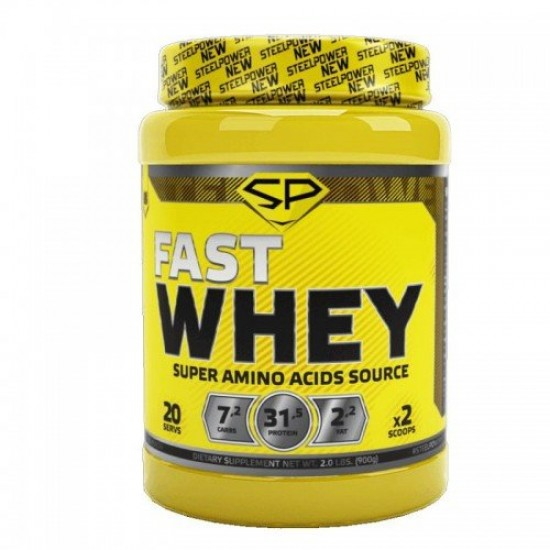 STEEL POWER Fast Whey Protein 900г, Арахис-Карамель-Нуга-Шоколад